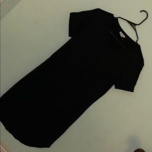 Black cute T-shirt dress
